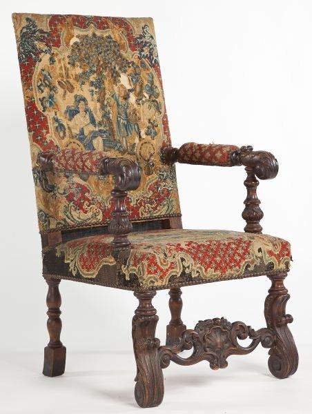 78: James II Style Open Armchair