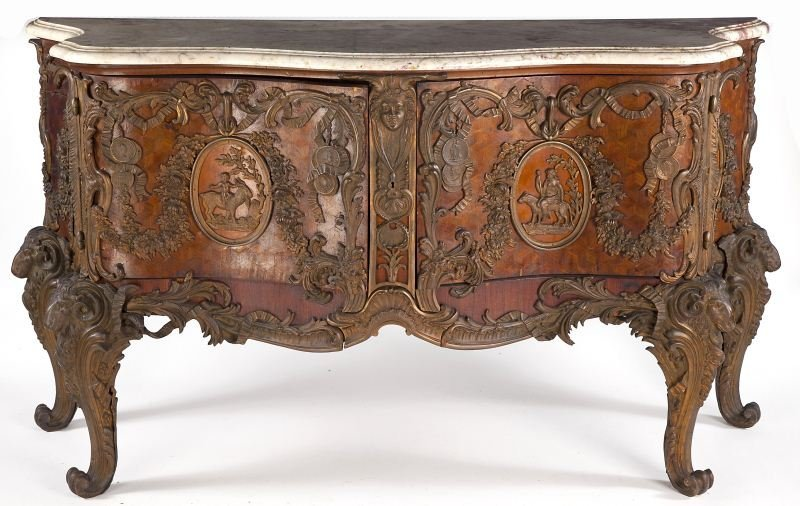 81: Louis XV Style Parquetry Commode