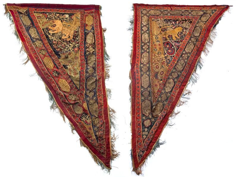 89: Pair of Persian Embroidered Panels