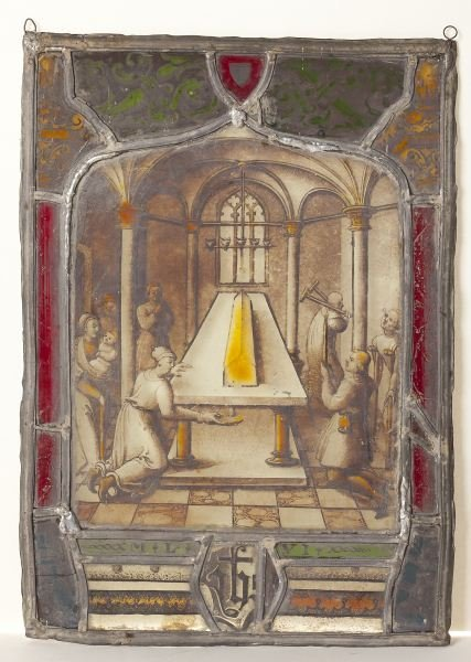 100: Antique German Stained Glass