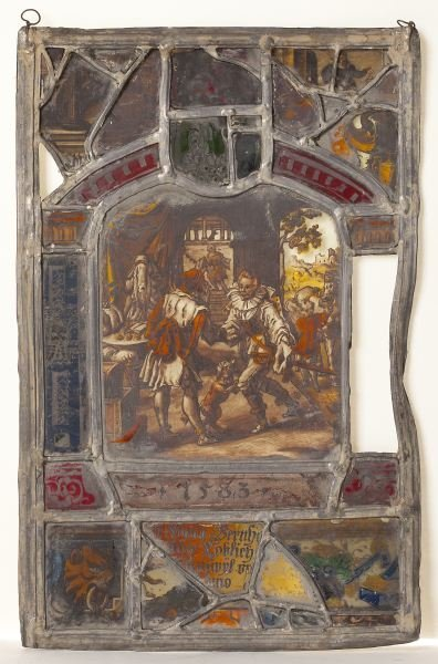 101: Antique German Stained Glass