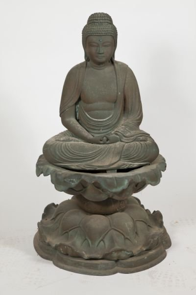 107: Japanese 19th century Bronze Amida Buddha