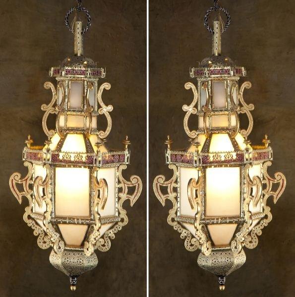 109: Pair of Large Chinese Lanterns