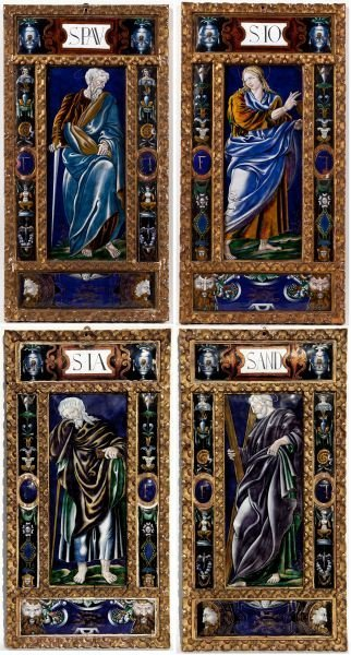 110: Important Group of Four Limoges Enamel Plaques