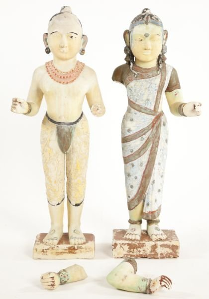 115: East Indian Marble Courtiers