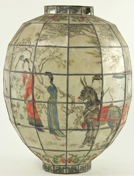 117: Japanese Painted Ceiling Lantern