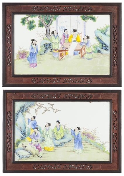 120: Pair of Chinese Porcelain Panels