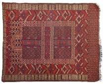 228 Tekke Turkoman Hatchli Antique Area Rug