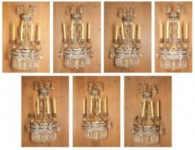 Seven English Regency Style Wall Sconces