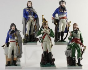 Five Napoleonic Officer Figures