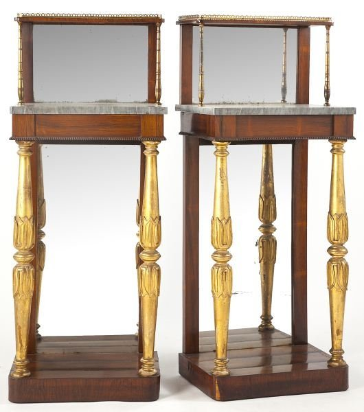 277: Pair of English Regency Petite Consoles