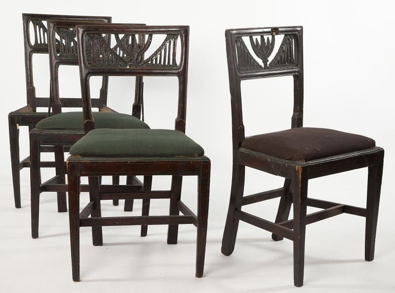 279: Set of Four Italian Side Chairs