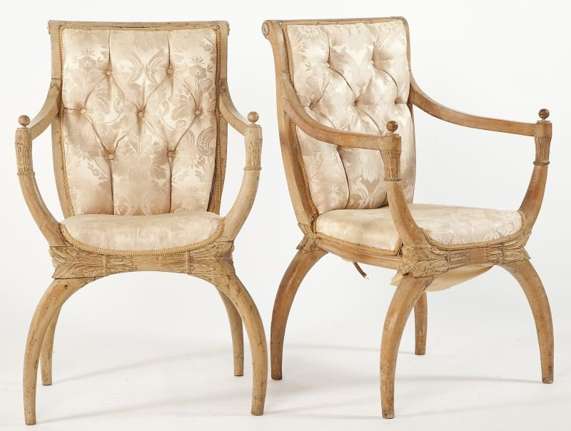 280: Pair of Venetian Open Armchairs