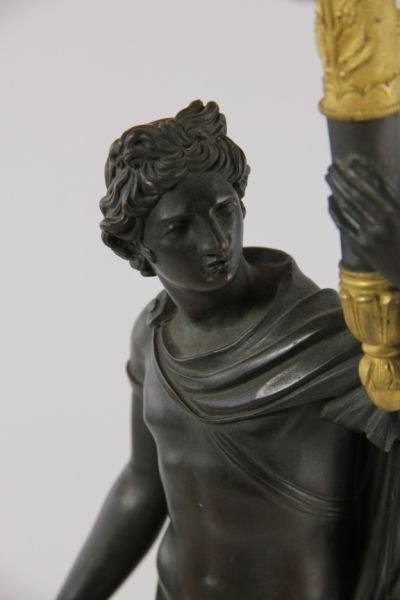 292: Pair of French Empire Gilt Bronze Candelabra - 10