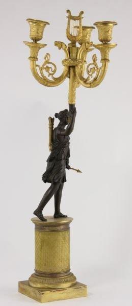 292: Pair of French Empire Gilt Bronze Candelabra - 4