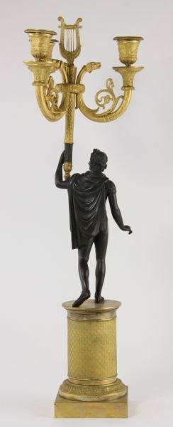 292: Pair of French Empire Gilt Bronze Candelabra - 6