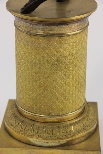 292: Pair of French Empire Gilt Bronze Candelabra - 8