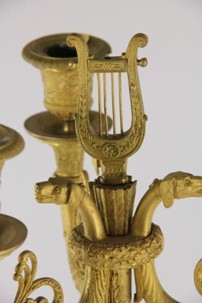 292: Pair of French Empire Gilt Bronze Candelabra - 9