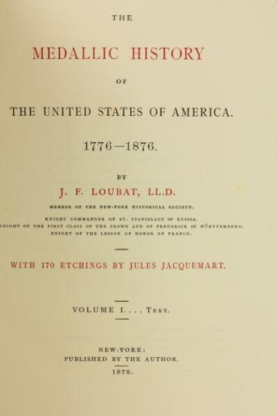 437: Centennial Book on American Medals - 2