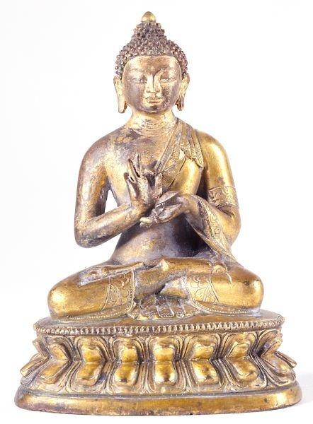 466: Siamese Gilt Bronze Buddha