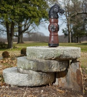 606: Horse Head Hitching Post