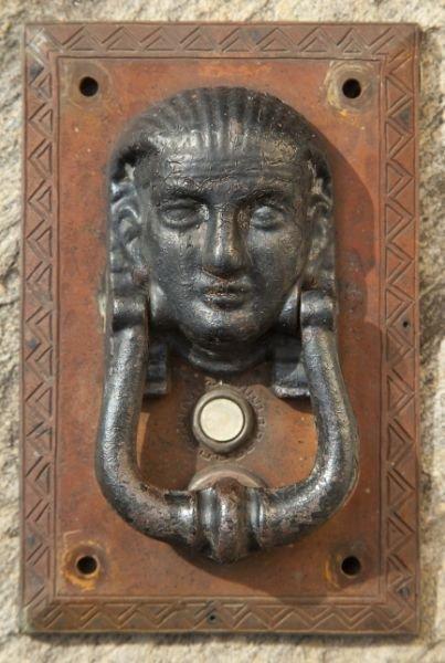 607: Figural Door Knocker and Bell