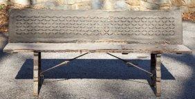 610: Spanish 16th century Style Bench
