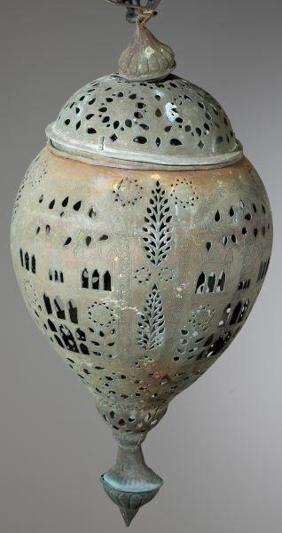 615: Nepalese Bronze Lantern