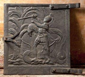 19th Century Cast Iron Oven Door