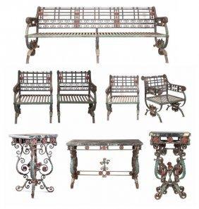 Set Of Wrought Iron Garden Furniture