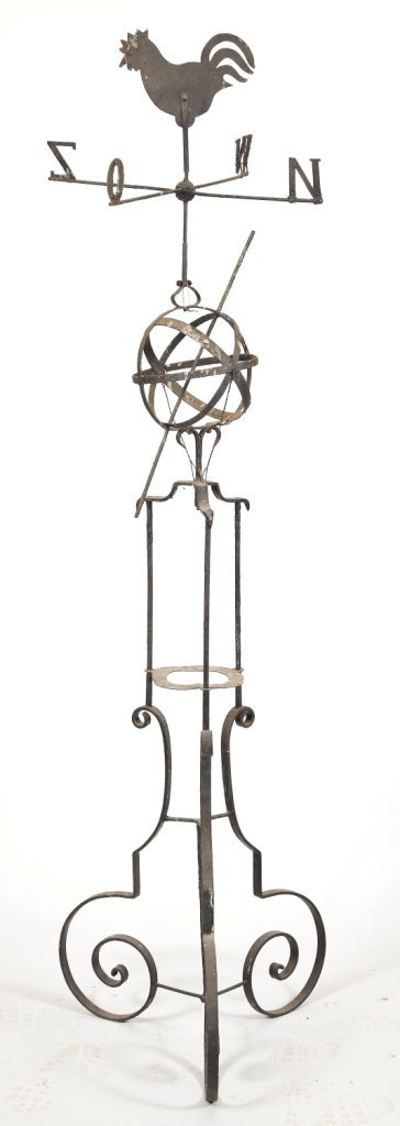 626: Wrought Iron Painted Weather Vane
