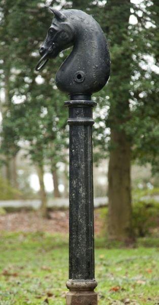 639: 19th Century Cast Iron Hitching Post