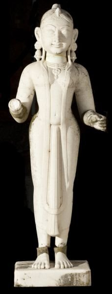 East Indian Carved White Marble Statue