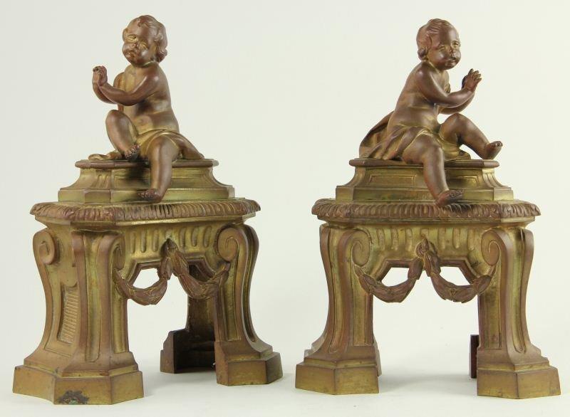 699: Louis XVI Style Andiron Covers