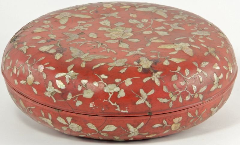 707: Red Lacquered Chinese Box