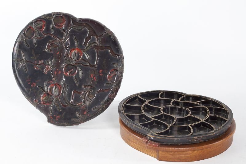 708: Lidded Chinese Lacquered Sweetmeat Box