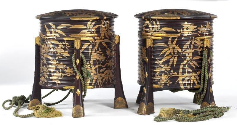 710: Pair of Kimono Boxes