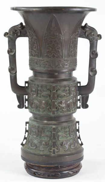713: Chinese Bronze Archaic Style Vessel