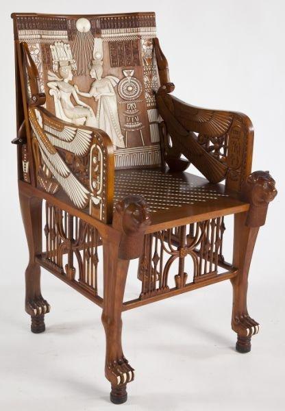 720: Egyptian Revival King Tut Arm Chair