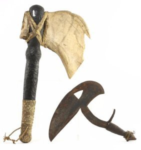 Two African Ceremonial War Hatchets