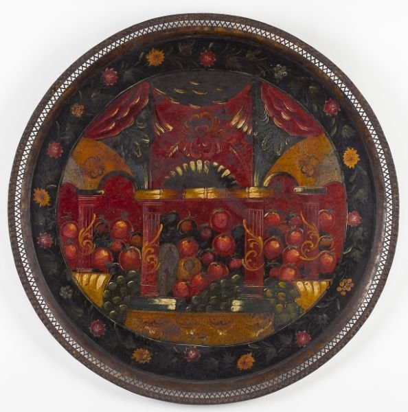 763: Paint Decorated Tole Tray