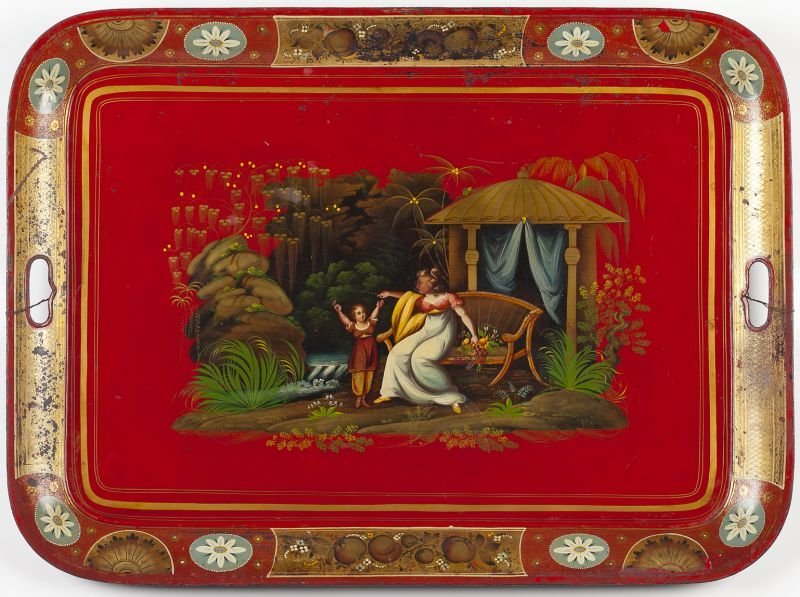 764: Chinoiserie Tole Tray