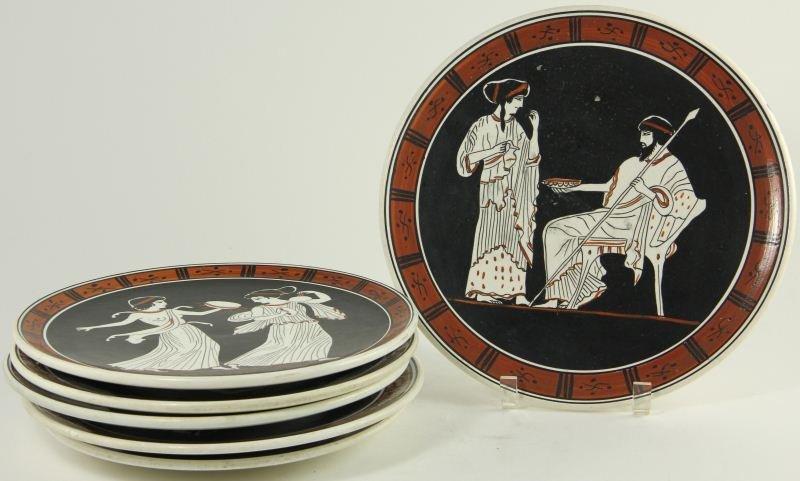 790: Six Companion Greek Plates