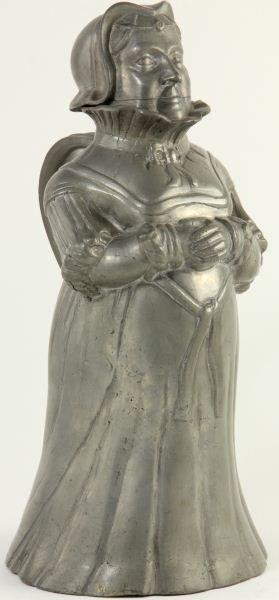 798: Antique Flemish Pewter Pitcher