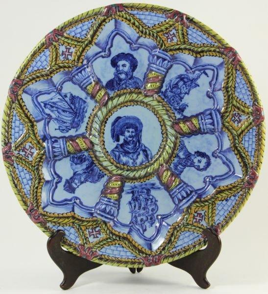 804: Portuguese Porcelain Charger