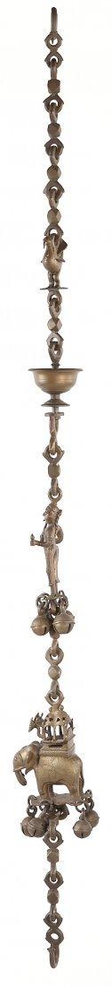 808: East Indian Bronze Decorative Chain Garniture