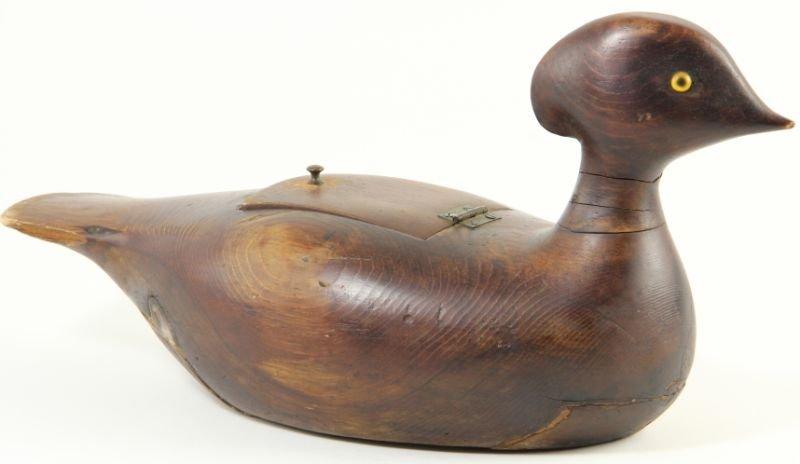 830: Antique Pine Duck Decoy