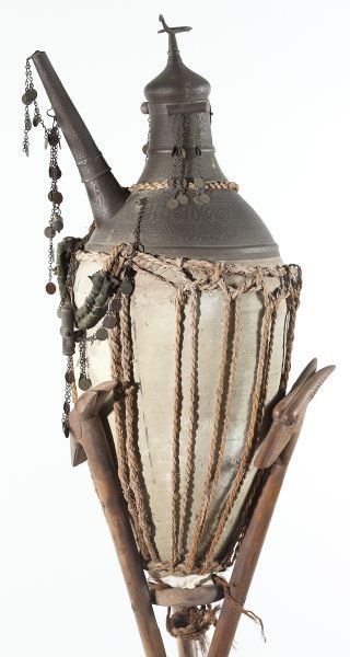 839: Persian Wine Jar with Teakwood Tripod Base - 2