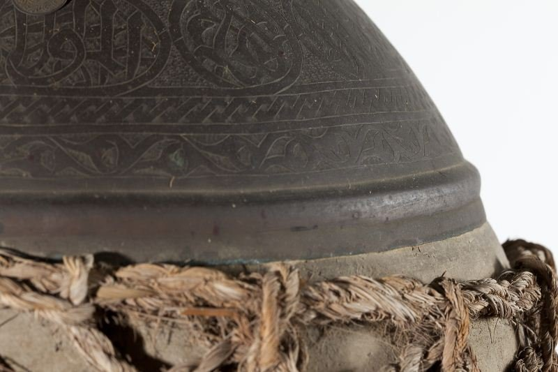 839: Persian Wine Jar with Teakwood Tripod Base - 4