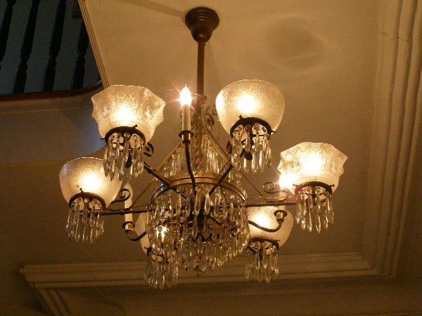 2086: Matched Pair of 19th c. Chandeliers,